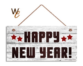 Happy new year sign   Etsy