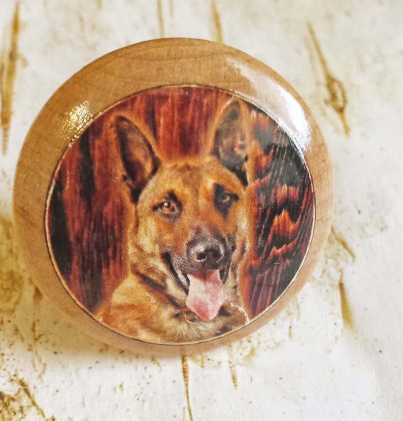 German Shepherd Dog Knobs Pet Dog Dresser Knobs Shepard, Cabin Decor Mans Best Friend Drawer Pulls Cabinet Pull Handles