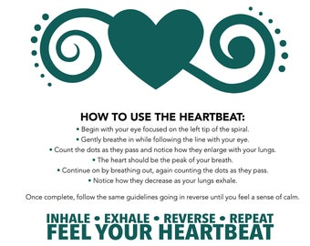 The Heartbeat - Digital File Download - Anxiety Tool - Suicide Awareness - Meditation