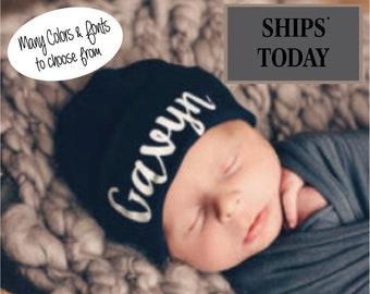 Personalized Baby Hat, Baby Boy Baby Hat, Baby Girl Baby Hat, Newborn Hat, Custom Baby Hat Baby Boy Gift, Baby Girl Personalized Gift,