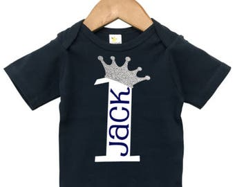 Boys First Birthday Outfit, Boys Birthday shirt or bodysuit, Little Prince Birthday Shirt, Prince Outfit, First Birthday Boy, Personalized