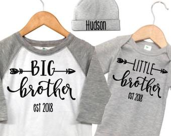 Big Brother Announcement Shirt, Pregnancy Announcement Shirt, Big Brother Little Brother Outfits, Grey and White Raglan Big Brother Shirt,