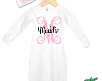 Cadeaux de naissance personnalisé, personnalisé ensemble cadeau pour bébé, cadeau de Shower de bébé pour nouveau-né fille, vêtements bébé, bébé idées de cadeaux, tenue Coming Home