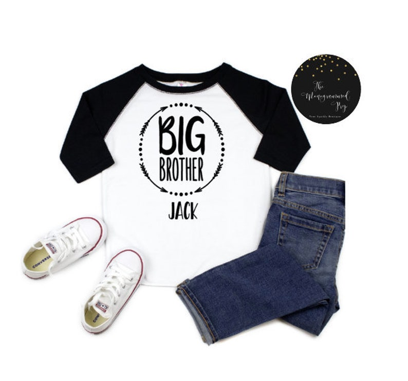 Big Brother Little Brother Outfits Personalized Baby Hat Big Brother Shirt BIg Brother Little Brother Big Brother announcement shirt