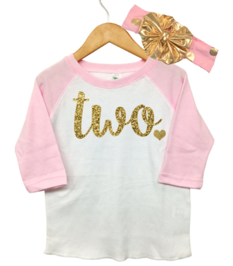 Personalized 2 year old girl Birthday Shirt Girls 2nd Add a Bow