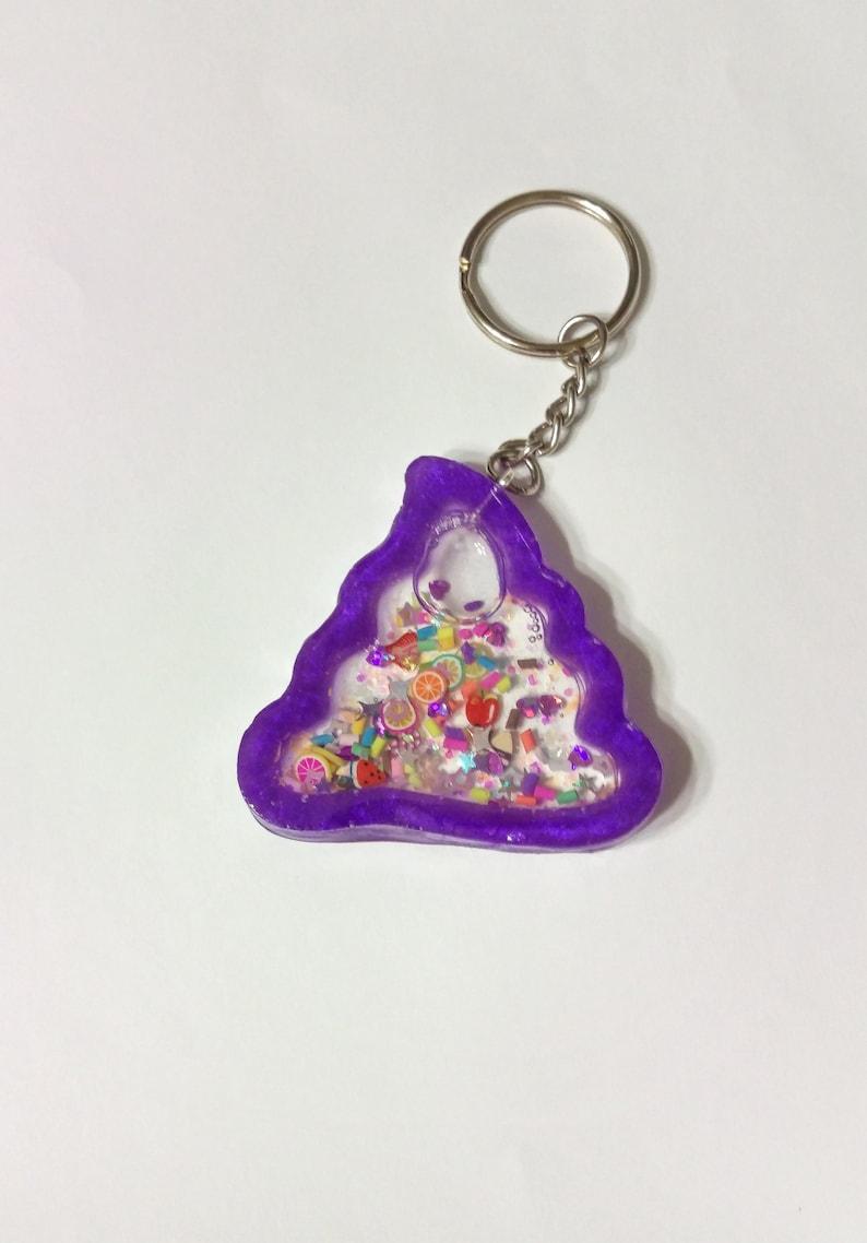 Poop Keychain Liquid glitter Poop keyring Poop emoji Poop  a92afc2b3