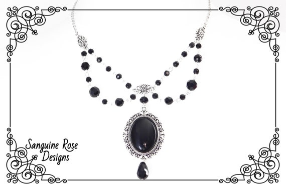 Beatrice necklace-gothic necklace-victoian gothic necklace