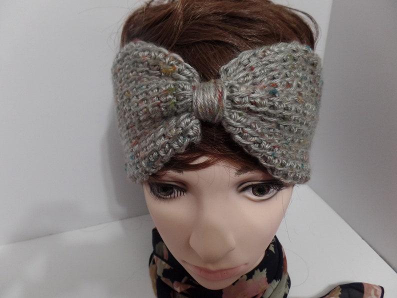 Ear Warmer Headband Tunisian Crochet Headband Head Warmer Etsy