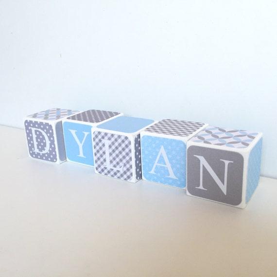 Custom Baby Name Baby Blocks Nursery Baby Shower Gift