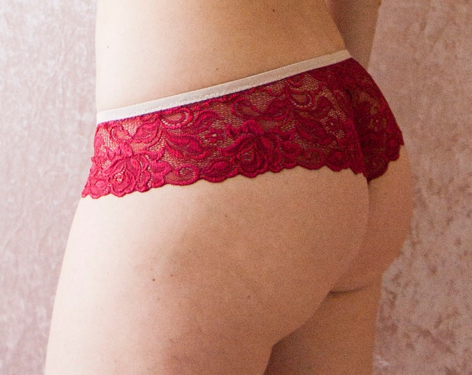 Cranberry Red Lace Panties