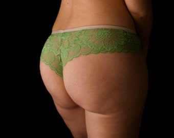 Leaf green lace panties