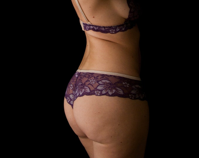 Grape lace panties