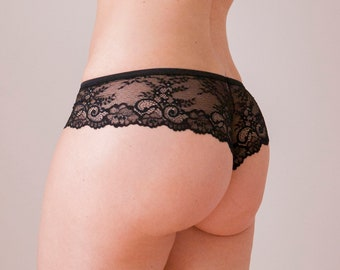 Black lace panties