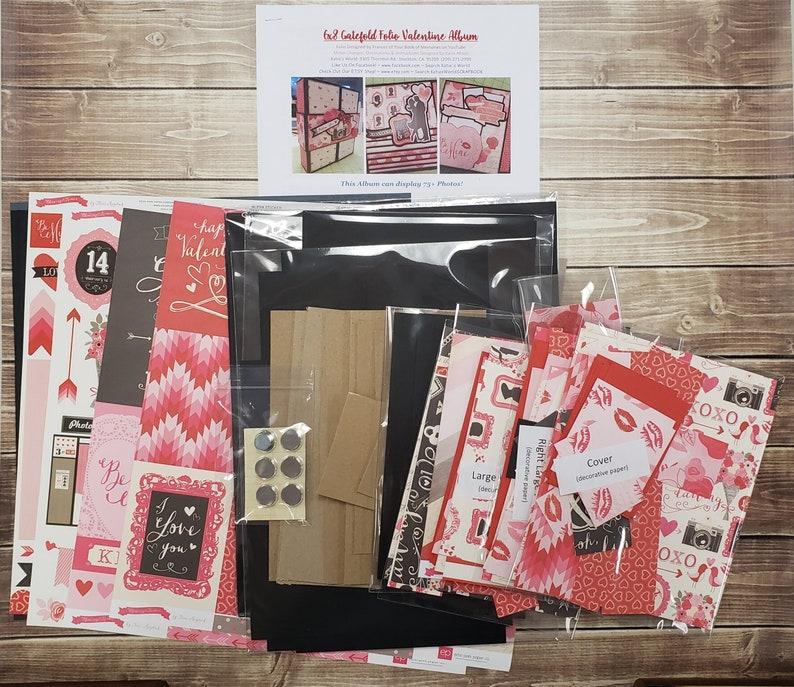 Valentine Love 6x8 Gatefold Album Scrapbook KIT