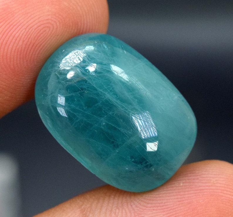 23*16*08 mm 29.10 carats oval cut Natural Grandidierite Cabochon From Madagascar