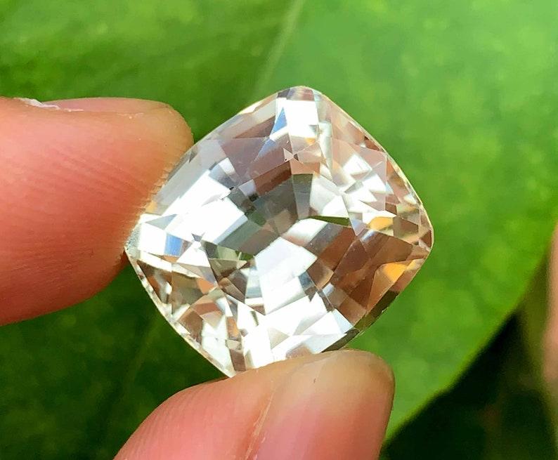 Golden Peach Triphane Var Kunzite Loose Gemstone Cushion Cut ~ 24 Carats