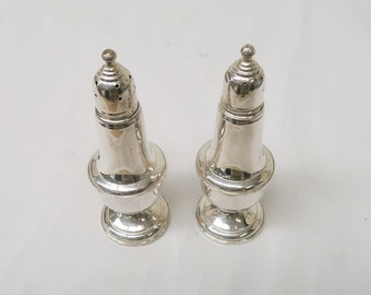 Empire Sterling Weighted Salt Pepper Shakers 242 Glass Lined