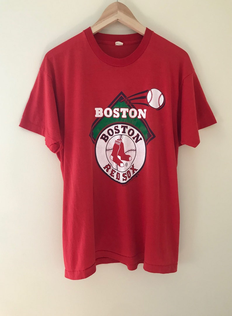 newest collection 65a4c 9637b Vintage 80s Boston Red Sox MLB Baseball Team 50/50 T-Shirt by Screenstars