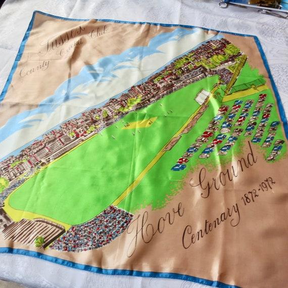 70s County Cricket scarf, English cricket, Sussex