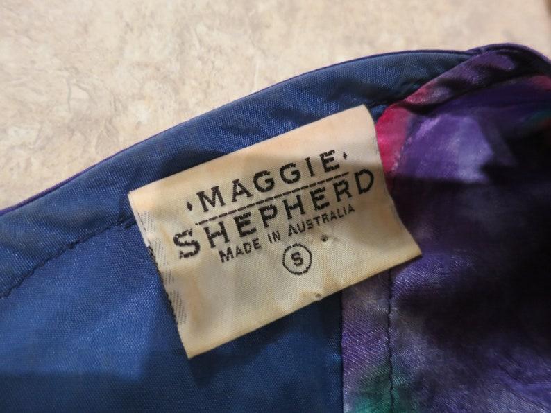 slip on Australia tassels ribbon patchwork unique 919528 S Small 80s Maggie Shepherd top blue purple red