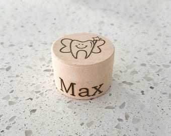 Personalised wooden tooth fairy box - first tooth