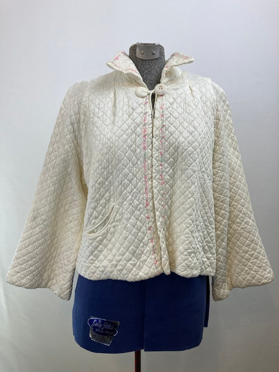 40s barbazon quilted dream puff jacket sz medium