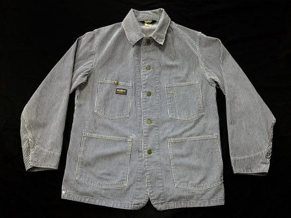 70s Oshkosh B'gosh hickory striped chore jacket ra