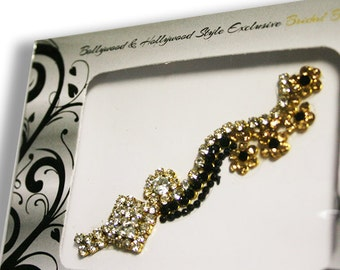Black Gorgeous Bollywood Maang Tikka  Wedding Forehead Jewelry Stick On..MT-BX1