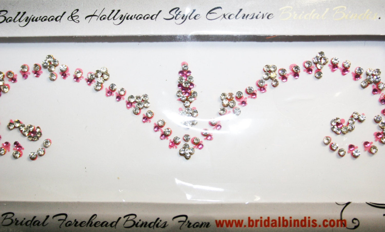 Light Pink Bridal Bindi Forehead Makeup