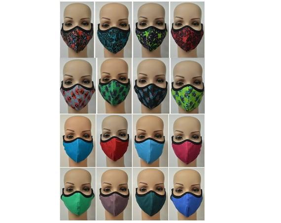 Wholesale - Job Lot - Organic Cotton Reversible Face coverings - Printed- Block Colours- 100 Pieces