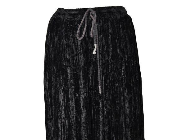 Plus size gypsy boho hippy dual layered adjustable waist handkerchief hem skirt free size up to 22 Black