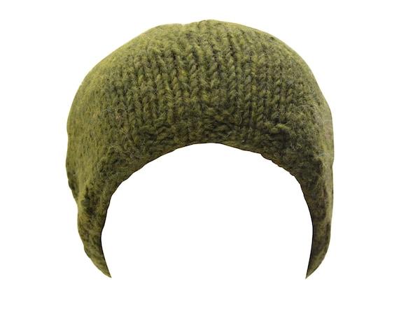 Handmade knit 100% wool unisex adults kids beanie hat warm fleece lined boho hippie winter cap p6