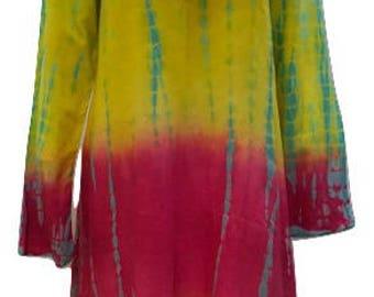 c443ced9d5fd4 Plus size hippie boho summer asymmetric hem embroidered v-neckline tunic  dress