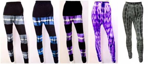 Womens Funky Hippie Tie Dye Leggings Workout Stretch Yoga Pants Freesize 12 14 16