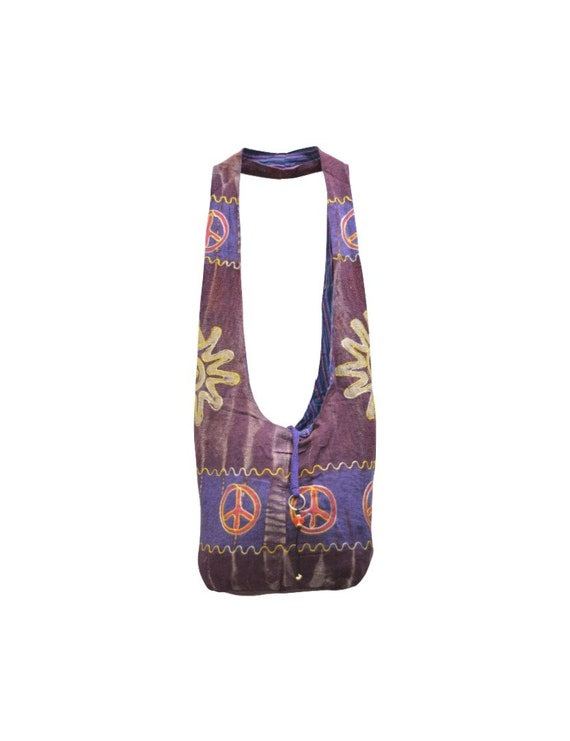 Cotton Recycled Boho Hippie Peace Nomad body Sling Bag Floral Embroidered Satchel Shoulder Bag P7