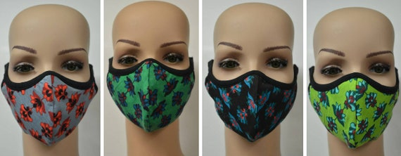 Handmade Organic Cotton Recycled Reusable Face Masks Paisley Print Sustainable Fabric Reversible Covering