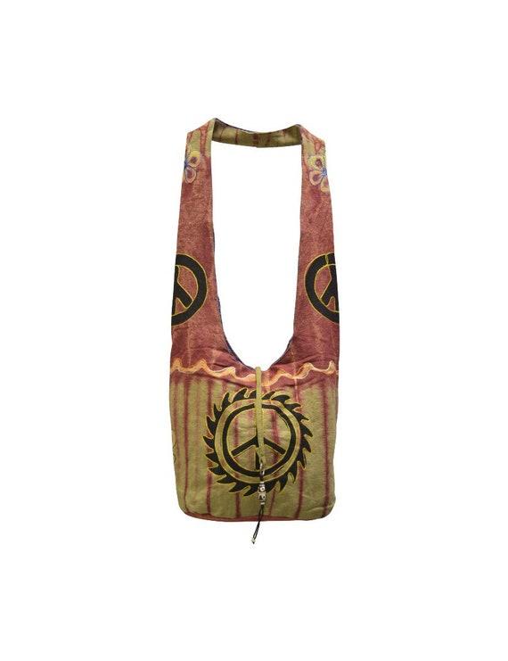 Cotton Recycled Boho Hippie Peace Nomad body Sling Bag Floral Embroidered Satchel Shoulder Bag P6