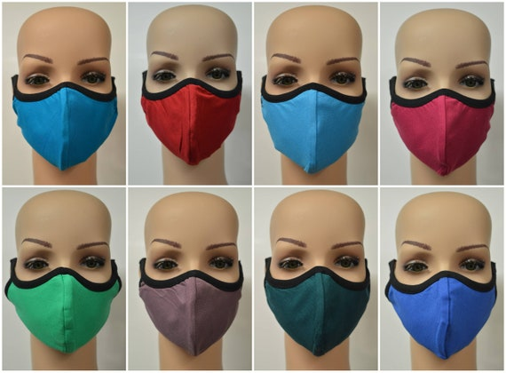 Handmade Organic Cotton Recycled Reusable Face Masks Sustainable Fabric Reversible Covering