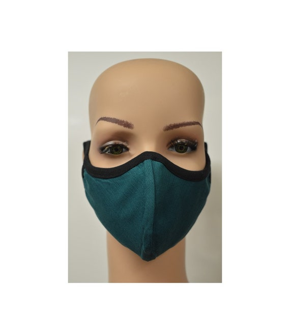 Handmade Organic Cotton Recycled Reusable Face Masks Sustainable Fabric Reversible Covering Below Cost C7
