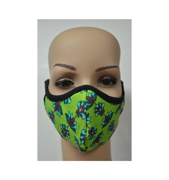 Handmade Organic Cotton Recycled Reusable Face Masks Paisley Print Sustainable Fabric Reversible Covering Below Cost