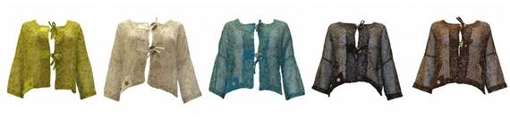 Crochet Style Crop Cardigan Boho Button Knit Mesh Shrug Free Size Up To 26