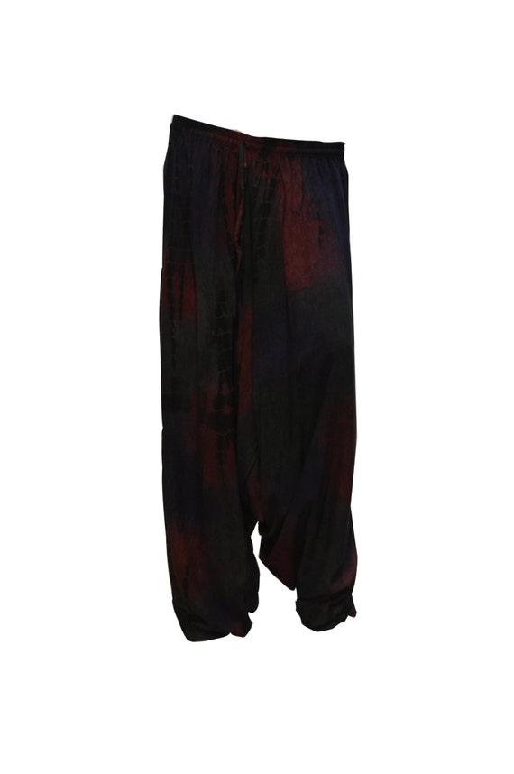 Plus Size Boho Hippie Festival Baggy Low Drop Harem Pants Multi