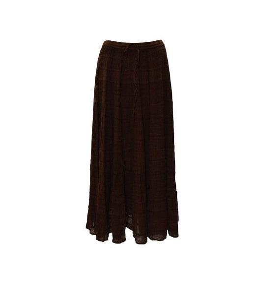 Womens Ladies Plus Size Boho Hippie Tiered Gypsy Maxi Skirt Free size Up To 22