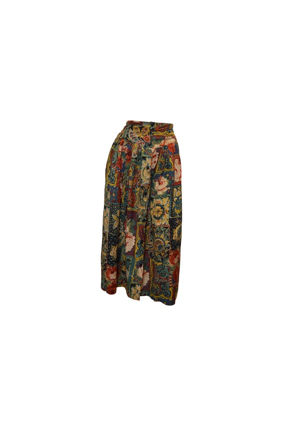boho hippie vintage style floral high waist button skirt multi 2 freesize up to size 16