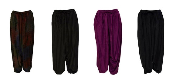 Womens Ladies Boho Hippie Loungewear Low Crotch Hippie Relaxed Harem Pants Freesize Up To 20
