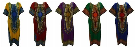 Womens Ladies Cotton Boho Hippie Loungewear Kaftan Abstract Batik Print Long dress Freesize up to 24
