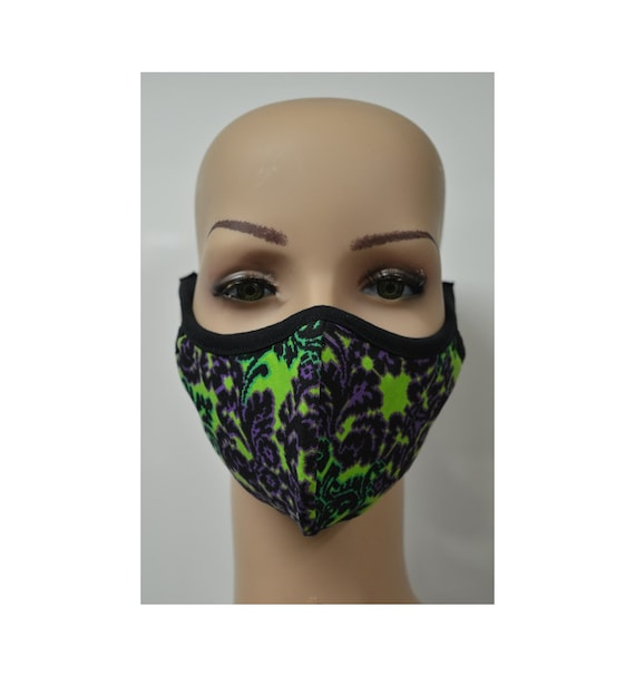 Handmade Organic Cotton Recycled Reusable Face Masks Retro Floral Print Sustainable Fabric Reversible Covering Below Cost