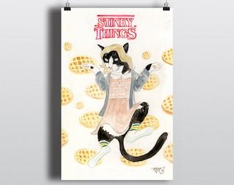 Stinky Things - 11x17 Art Print