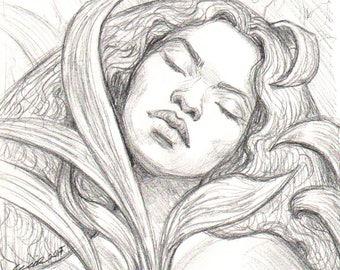 December Dreams ORGINAL Drawing
