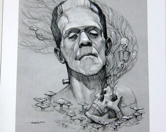 Frankenstein's Monster Archival Print
